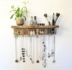 Jewelry Organizer With Shelf Necklace Holder