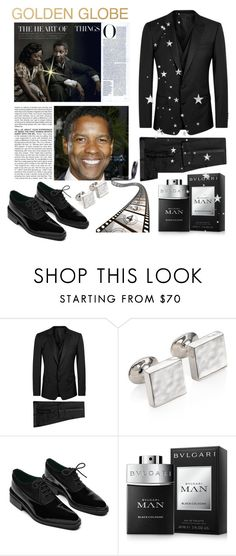 """""""Golden Globe"""" by conch-lady ❤ liked on Polyvore featuring Dolce&Gabbana, BCBGMAXAZRIA, Monica Vinader, Bulgari, men's fashion, menswear and glodenglobeaward"""