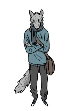 dessin loup de Cléa Salaün
