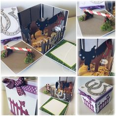 Explosion box for a trip to the horse farm - Explosion box for a trip to the horse farm - Movie Basket Gift, Movie Night Gift Basket, Movie Gift, Summer Gift Baskets, Movie Night Invitations, Sister Birthday Presents, Best Secret Santa Gifts, Homemade Gift Baskets, Holiday Party Themes