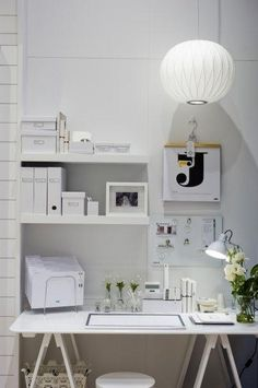 Clean and organize. White office Space