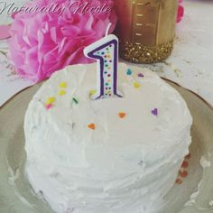 All natural 1st birthday smash cake with no artificial ingredients