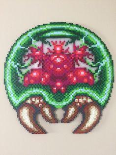 Super Metroid perler beads by EightBitBert