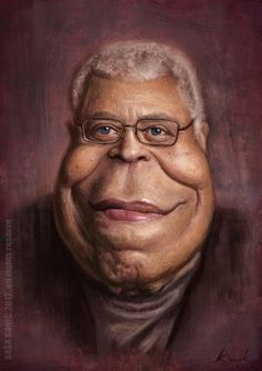 James Earl Jones caricature SigmaK on deviantART