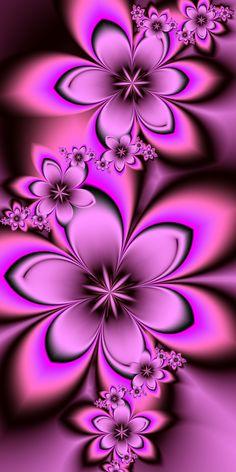 Pink Fractal Flowers by EsmeraldEyes.deviantart.com on @deviantART