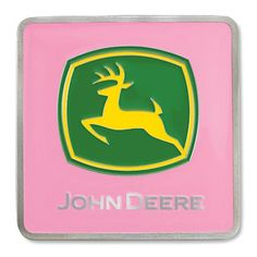 This hitch cover is gorgeous Pink rustproof, strong metal. Green and Yellow 2-color corporate logo. Fits standard 2