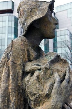 Famine (1997) on the Custom House Quay in Dublin