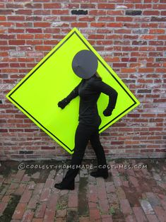 Easy and Cheap Homemade Costume Idea: Pedestrian Crossing... Coolest Homemade Costumes