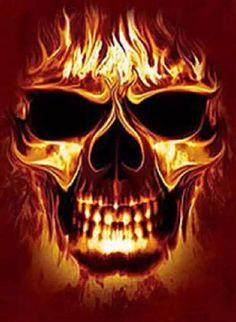 Skull flames and sword  skulls  Pinterest  Skeleton art and Artwork