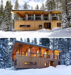 Suagr Bowl Cabin: Winter Wonderland | http://www.busyboo.com/2011/06/29/modern-cabin-suagrbowl/