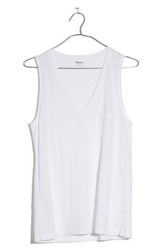 Madewell Madewell Whisper Cotton V-Neck Tank available at #Nordstrom