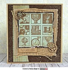 Rubber Stamp Set - Steampunk Inchies