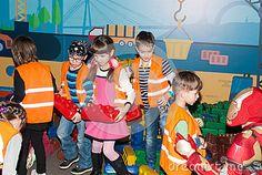 Children with the animator have fun on the playground.Ukraine,Kiev.Kidlandia 19 February 2017