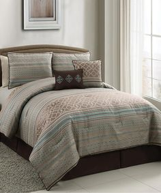 Taupe Havoc Comforter Set | Daily deals for moms, babies and kids