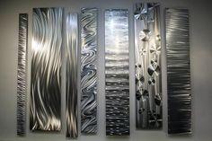 Large Metal Wall Art, Modern Metal Art Wall Sculpture, Abstract Indoor Outdoor Art - Divided Unison by Jon Allen Abstract Metal Wall Art, Large Metal Wall Art, Hanging Wall Art, Wall Art Decor, Vinyl Shutters, Painting Shower, Metal Tree, Outdoor Art, Outdoor Sculpture