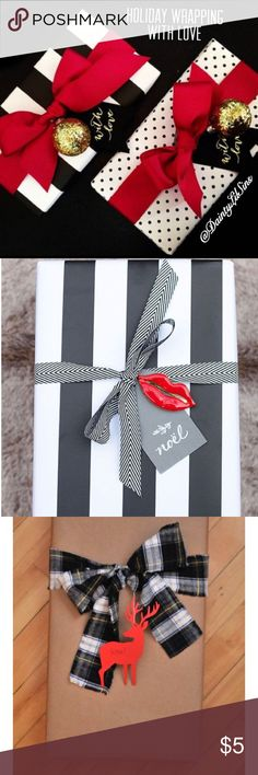 Holiday Wrapping For Only $5 ⛄️ NOW OFFERING HOLIDAY WRAPPING!!  If you would like to send a gift to a friend or family member for the holiday, I'll wrap it up & send it for you!!   This includes:  - wrapping paper of choice  Black & White Stripe or Polkadot Vintage Brown or Newspaper  - A bow, Ribbon or twine  - A small decorative ornament - A personalized card from you. - Pack with tissue  - Present packaged in a shipping box  - All items handled with ❤️  * Offer Valid Now - Dec. 21st…