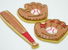 baseball cookie decorating idea