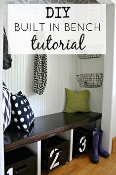 DIY Built In Bench Tutorial | Via View From The Fridge
