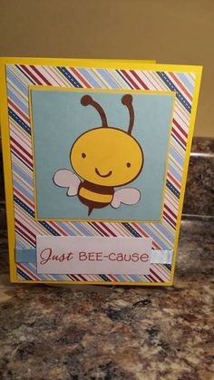 Just a Little Crafty: Just BEE-cause  Words 2 Scrap By Favorite Things Challenge