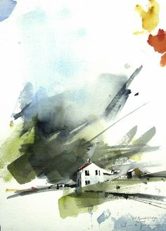Watercolor painting Iceland 18