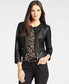 263fe5783306 Petite Faux Leather Quilted Jacket - Rev up your look with this luxe faux  leather quilted jacket