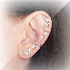 Silver Ear Cuff Silver plated Ear Champagne by ElectriccDreams, $9.00
