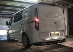 M-Sport Ford Transit Custom General Motors, Land Rover Defender, Transit Custom, Toyota Hiace, Cool Vans, Dirtbikes, Transporter, Top Cars, Custom Vans