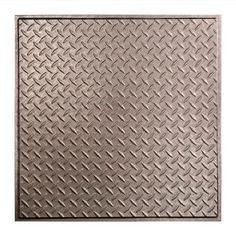 Fasade Diamond Plate - 2 ft. x 2 ft. Revealed Edge Lay-in Ceiling Tile in Galvanized Steel-L66-30 - The Home Depot