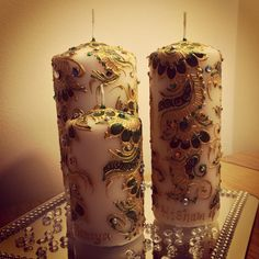 decorated candles...