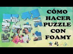 Puzzle de foamy o goma eva para el día del padre. Manualidades niños . - YouTube