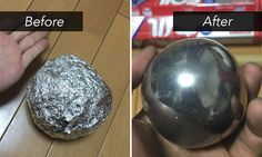 A Japanese trend has people creating extremely smooth balls of aluminum foil, which is a modern spin on the traditional Japanese art of making perfectly smooth orbs from mud (dorodango).