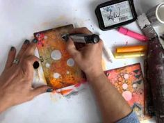 ▶ Stamping with Gelatos: Donna Downey Series - YouTube