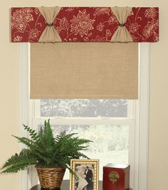 "June Tailor Quick & Easy Cornice ""No Sew"" Window Treatment Kit"