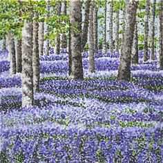 Bluebell painting by Cressida Carr Garden Painting, Paintings, Mountains, Gallery, Drawings, Nature, Flowers, Travel, Shopping