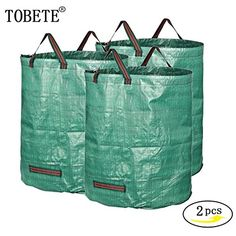 TOBETE Garden Leaf Waste Bags Large Reusable Yard Tool Spring BucketHeavy Duty Gardening 2Pack 67 Gallons Bags * Read more at the image link. #TrekkingPoles