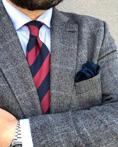 Classic striped ties make the best addition to a work suit.