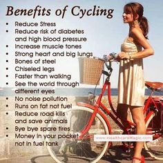 Health benefits of biking - why ride a bike - bycycling for fitness Bike Quotes, Cycling Quotes, Cycling Tips, Cycling Workout, Road Cycling, Cycling Art, Cycling Jerseys, Bike Workouts, Swimming Workouts