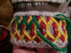 Här kommer en liten beskrivning med bilder hur jag gör mina Lovikkavantar.  Det är ingen utförlig instruktion utan mer en inblick i de oli... Stick O, Mittens Pattern, Mitten Gloves, Knitting Projects, Diy And Crafts, Knit Crochet, Embroidery, Handmade, Tips