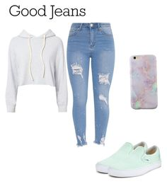 """jeans are good"" by naviere05 on Polyvore featuring Monrow and Vans"