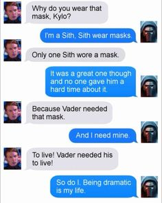 kylo is so uhg, I just want to see hayden Christian come back as anakins force ghost screaming at him. -Rainbow