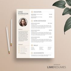 Modern  Page Resume Template With Cover Letter And Reference Page