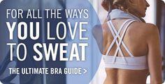 Lululemon's ad on their website-bra guide