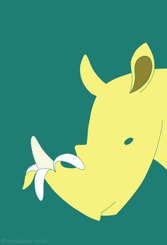Rhino Banana! illustration by Masahito Leo Takeuchi