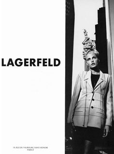 ☆ Nadja Auermann | Photography by Karl Lagerfeld | For Karl Lagerfeld Campaign | Spring 1994 ☆ #Nadja_Auermann #Karl_Lagerfeld #1994