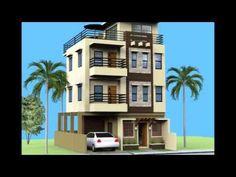 3 Storey House Plans 7 bedroom, modern triplex (3 floor) house design. area: 240 sq mts