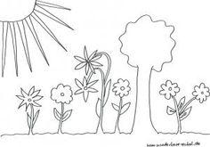 Schablonen/Ausmalbild Garten