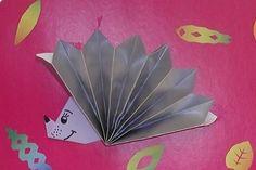 origami hedgehog craft | Crafts and Worksheets for Preschool,Toddler and Kindergarten