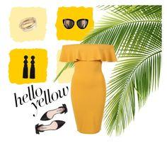 """Hello Yellow #37"" by vuzetka on Polyvore featuring Oscar de la Renta, Chanel, SJP, Valentino and Pilot"