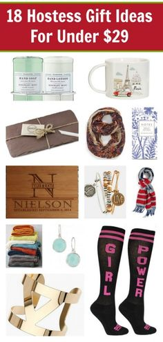 Looking for the perfect gift to say THANK YOU to the hostess? Here are 18 Hostess Gift Ideas that are all under $29 and are guaranteed to make her go WOW, I LOVE THAT!