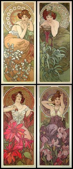 "Alphonse Mucha ""Les Pierres Précieuses"" 1900 by Art & Vintage, via Flickr bottom right"